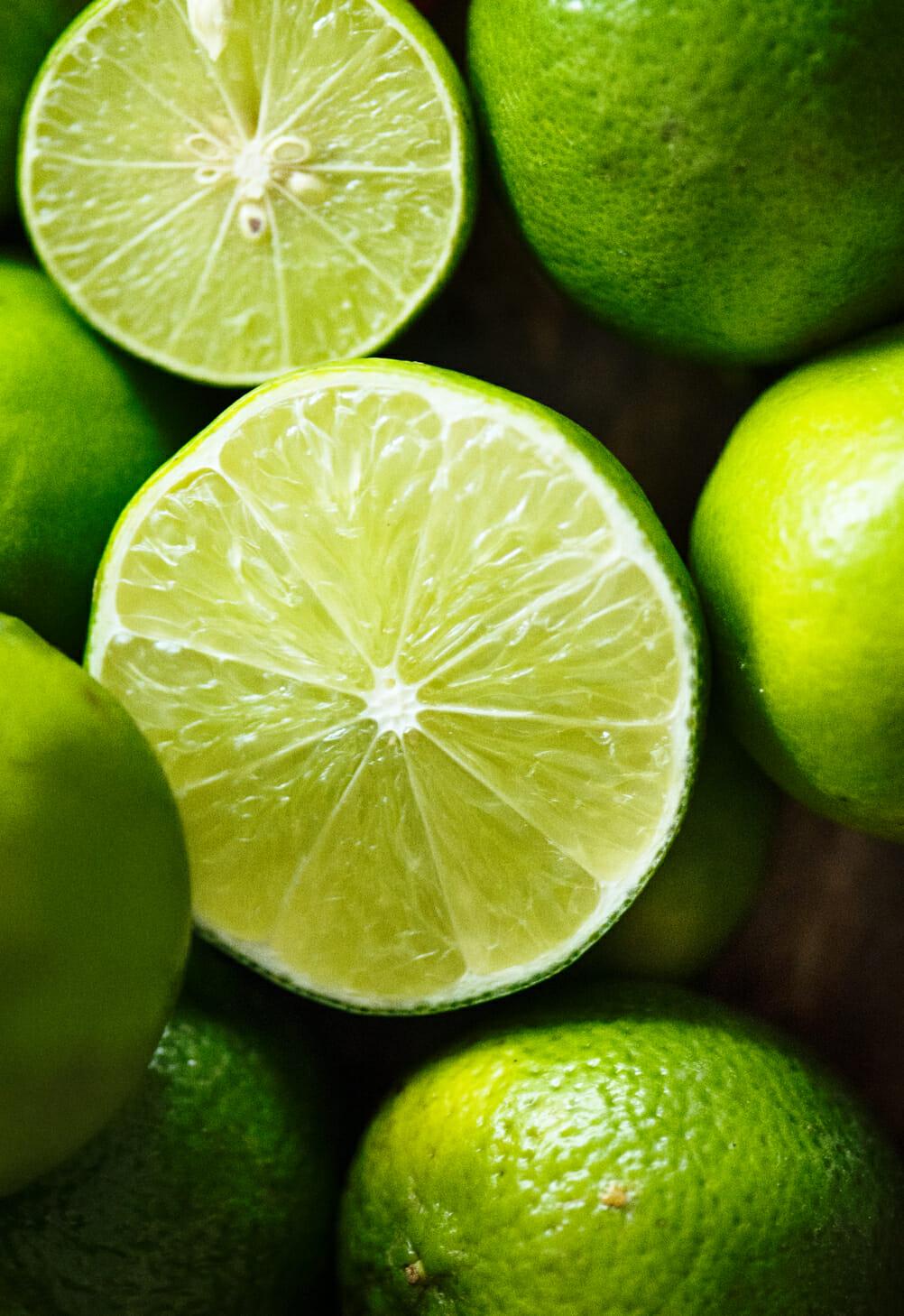 zaya rum cocktails - sliced limes